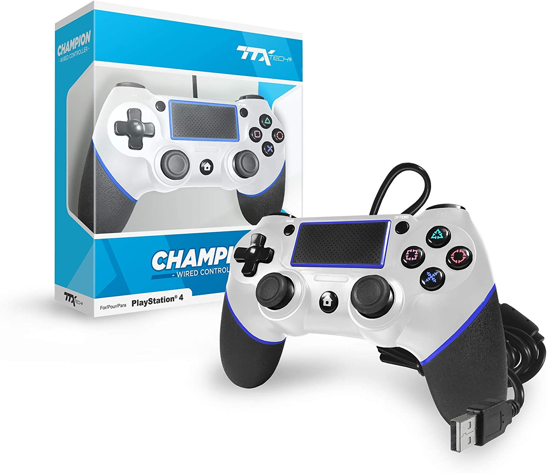 TTX Champion PS4 - Mando USB para Playstation 4, Color Blanco: Amazon.es: Electrónica