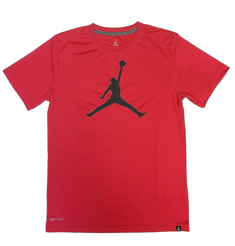 ed0819f7 Amazon.com: Nike Air Jordan Boys Jumpman 23 Dri-Fit T-Shirt: Clothing