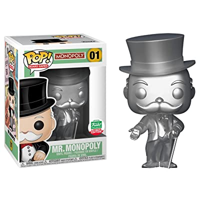 Funko Pop Board Games Silver Mr. Monopoly Limited Edition Vinyl Figure: Toys & Games