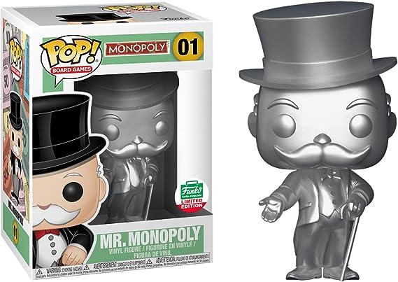 Funko Juegos de Mesa Pop Silver Figura de Vinilo de edición Limitada Mr. Monopoly: Amazon.es: Juguetes y juegos