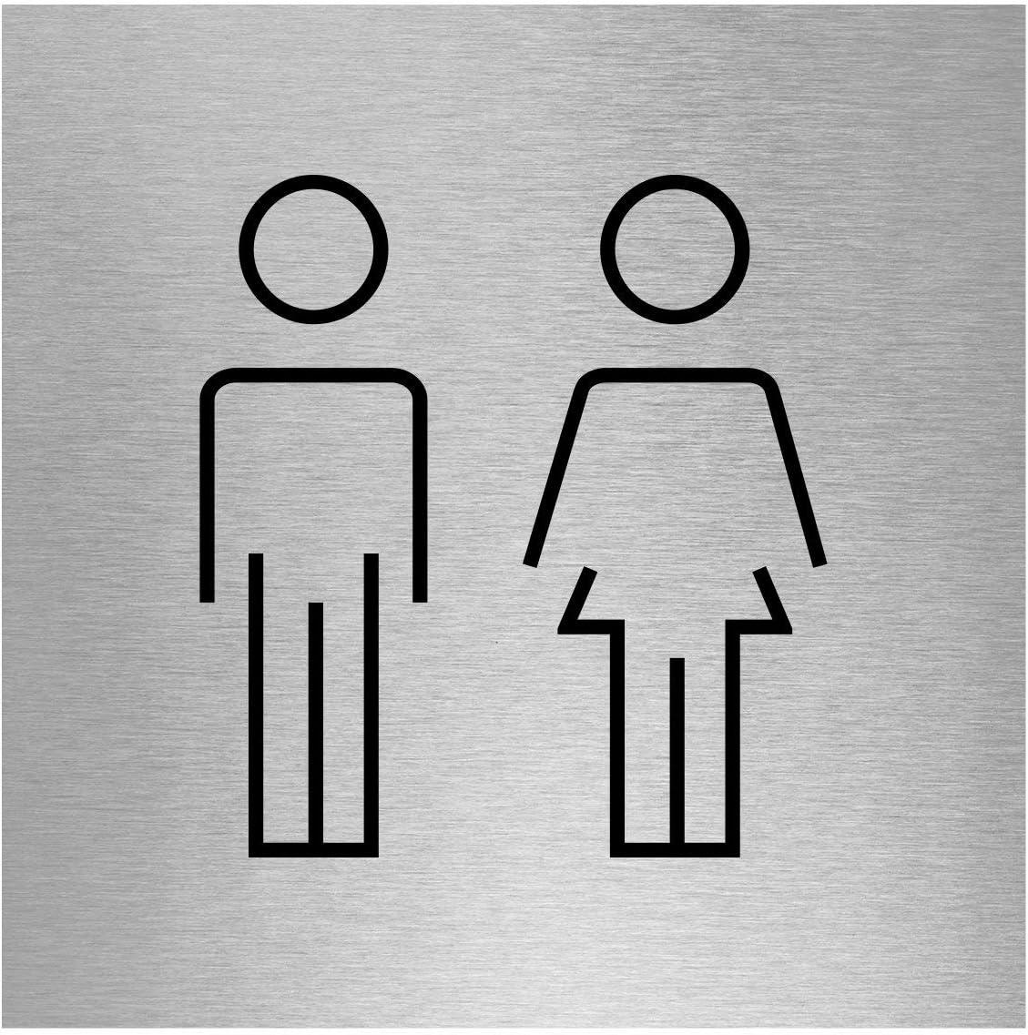 Slimline Aluminium Men /& Women Symbol Twin Pack100 x 150mm