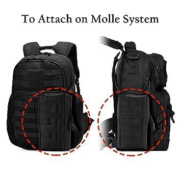 Zeato Molle Pochette multifonction tactique compacte et imperméable à suspendre à la taille pour tous les jours