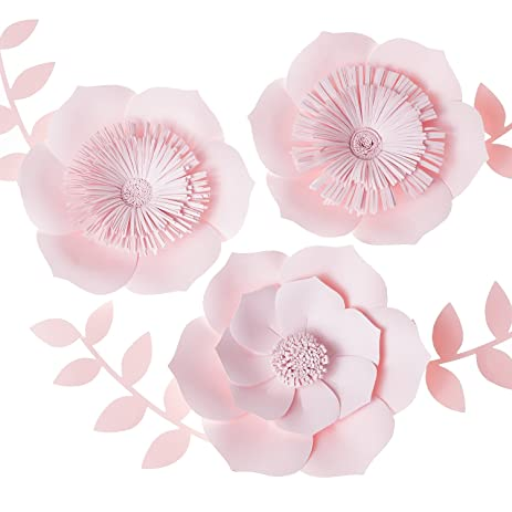 Amazon lings moment 3d flowers large pink paper flower lings moment 3d flowers large pink paper flower handcrafted flowers wall hanging mightylinksfo Images