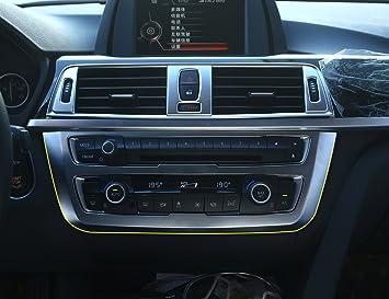 Para serie 3 gt F34 2013 - 2017 ABS cromado mate PANEL de la consola Central de coche accesorios 3d pegatinas: Amazon.es: Coche y moto