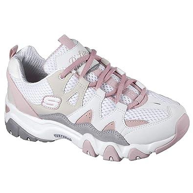 detailed look b3086 a35f0 Skechers Damen Sneaker D´Lites 2 TOP DOWN Weiß/Rosa
