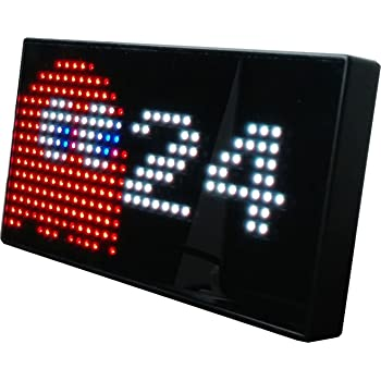 Amazon Com Pac Man Premium Led Desk Clock 512 Vibrant