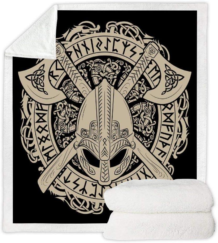 FineR Viking Helmet 3D Manteau Capuche Couverture Couverture Couverture personnalit/é Cape couvertures Couverture Chaude Capuche Couverture canap/é Couverture Peluche manteau-130cm 150cm