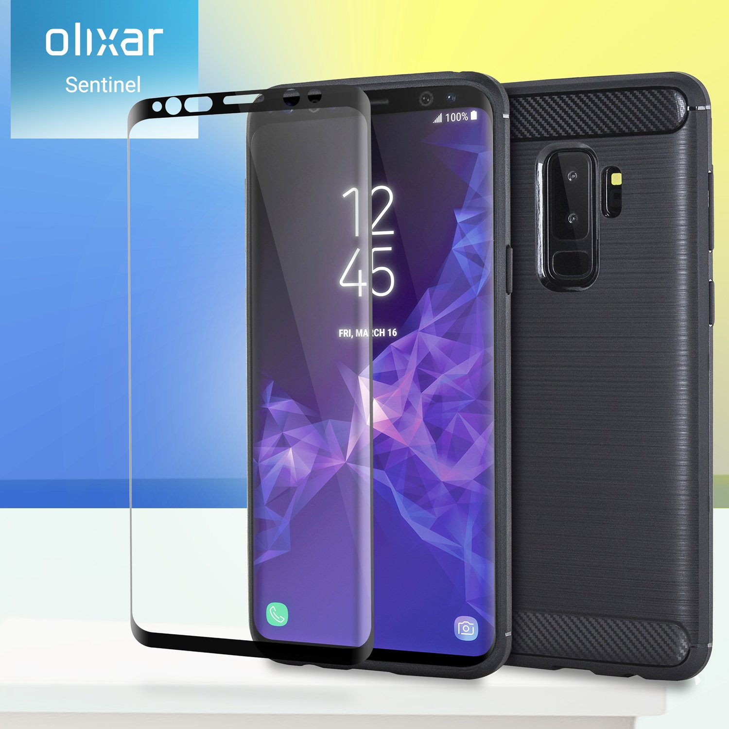 Olixar for Samsung Galaxy S9 Plus Case with Screen Protector - 360 Protection/Front + Back - Full Body Cover - 9H Tempered Glass - Wireless Charging ...