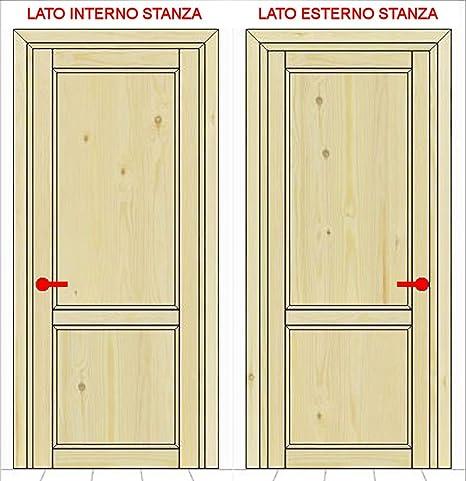 Porta in kit mod. BASE   Versione battente   Legno PINO grezzo ...