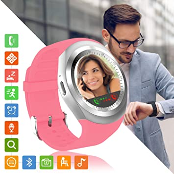 Tipmant Reloj Inteligente Mujer Hombre SN05 Smartwatch Pantalla táctil con Ranura para Tarjeta SIM Podómetro Moviles Buenos Pulsera de Actividad para ...