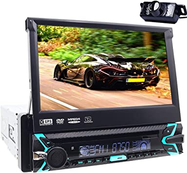 Reproductor multimedia para coche, Bluetooth, GPS, 1 DIN, audio ...