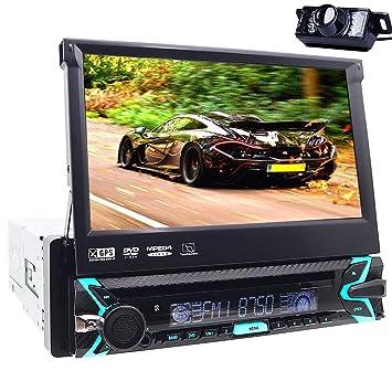 Reproductor multimedia para coche, Bluetooth, GPS, 1 DIN, audio ...