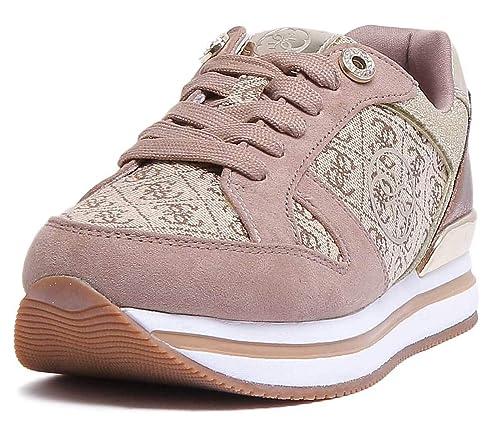 GUESS FLDA44FAL12 Zapatillas Mujer Beige 38: Amazon.es: Zapatos y complementos
