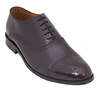 Handmade Formal Brogue Shoe In Real Calf Leather (Lace ups) For Men In Brown Colour
