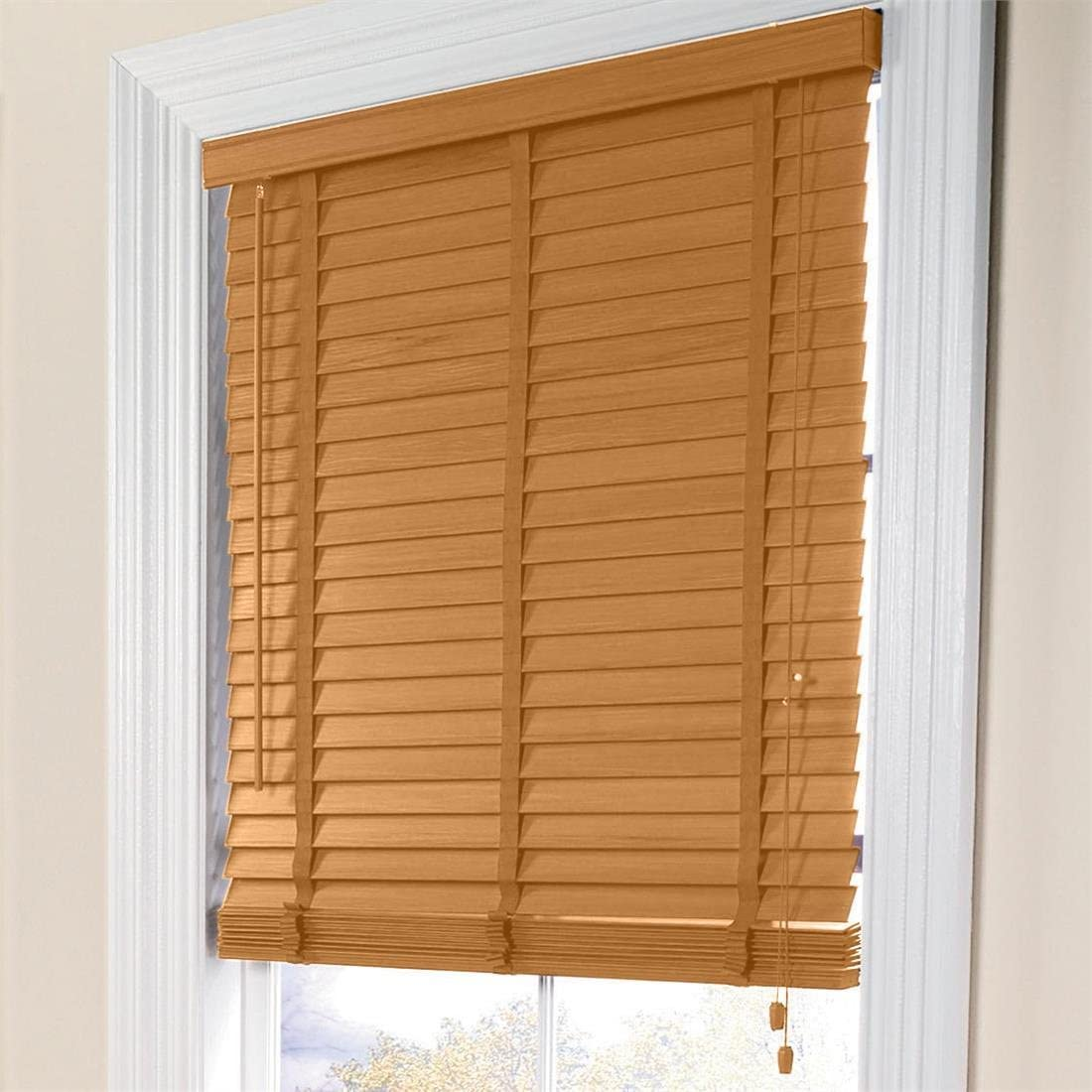 Brylanehome 2 Inch Width Slat Imitation Wood Blinds – 31 – 48 W X 64 L Oak,39 W 64 L