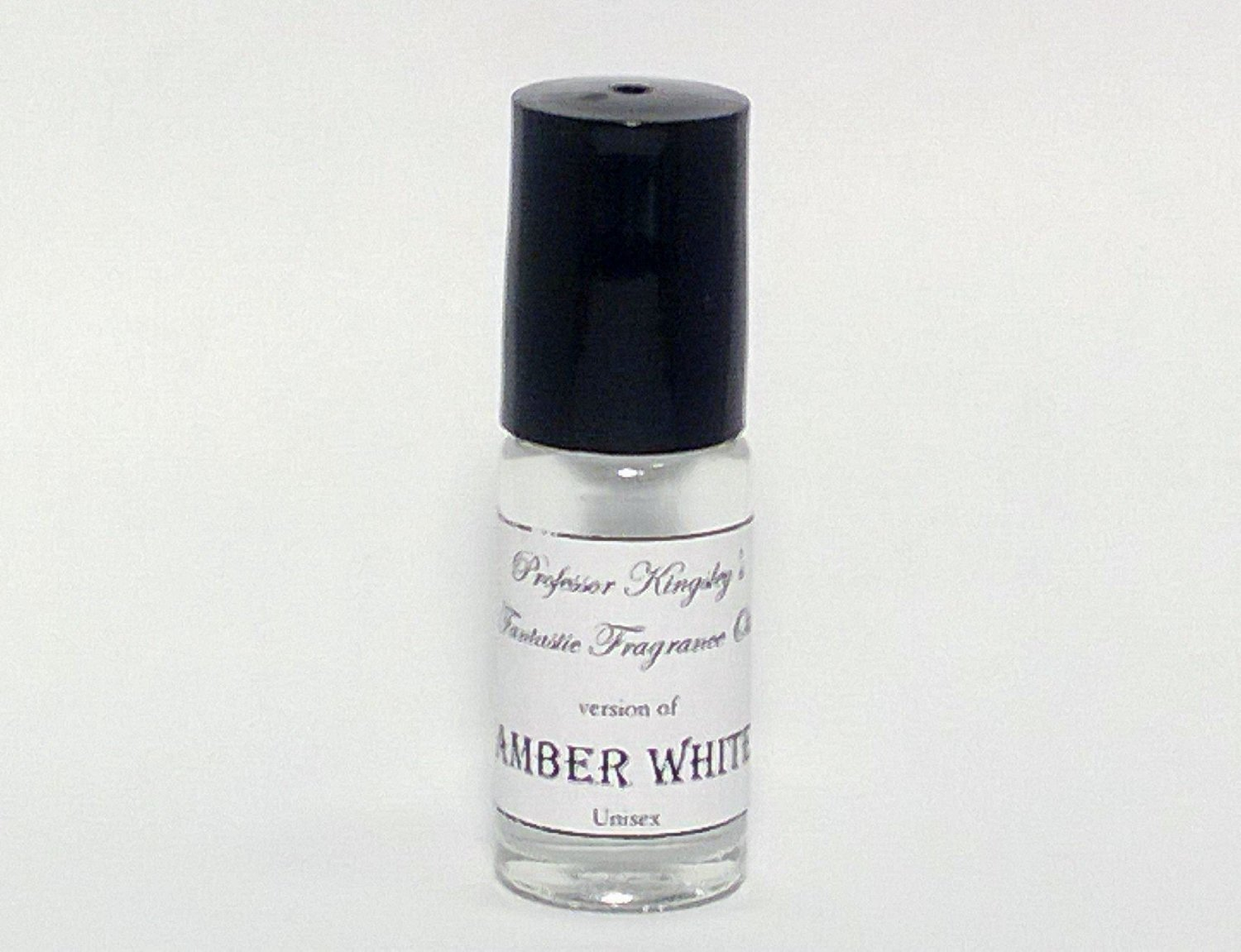 Amber White. Concentrated Unisex Fragrance Oil. (1/6 oz Concentrated Roll On)