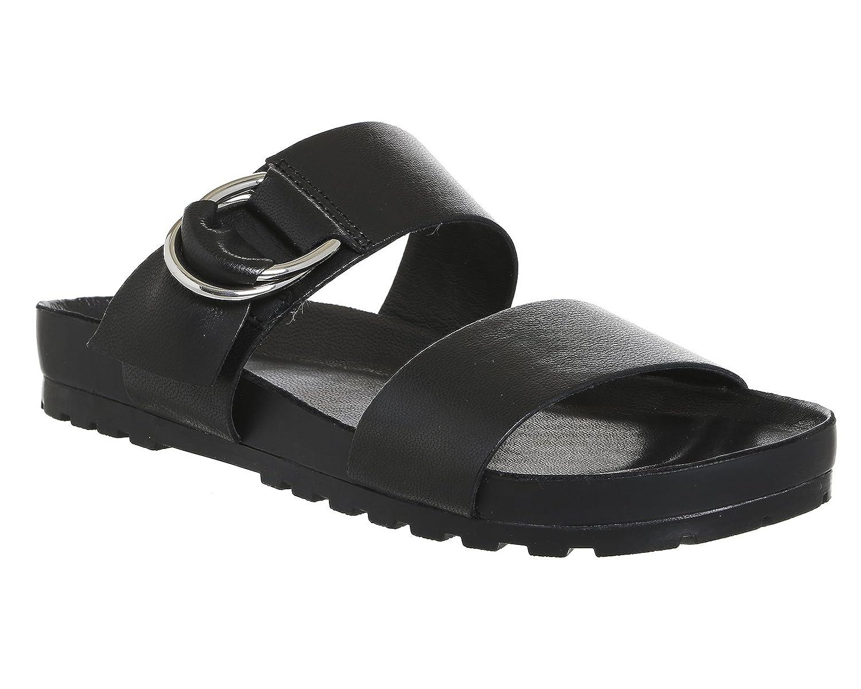 Vagabond Frauen Erie Leder Doppel-Bügel-Beleg auf Sandale Schwarz  schwarz