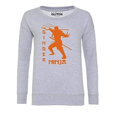 Amazon.com: Reality Glitch Ginger Ninja Womens Sweatshirt ...