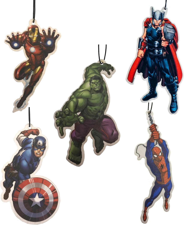 Auto Lufterfrischer Von Marvel Avengers Mit Den Motiven Thor Hulk Captain America Iron Man Und Spiderman 5 Stück Auto