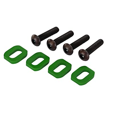 Traxxas Green Anodized-Aluminum Motor Mount Washers Vehicle: Toys & Games