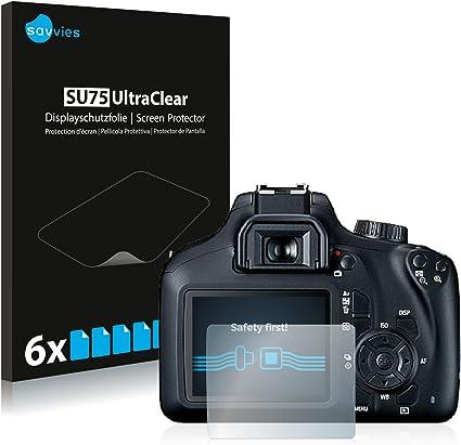 savvies Protector Pantalla Compatible con Canon EOS 4000D (6 ...