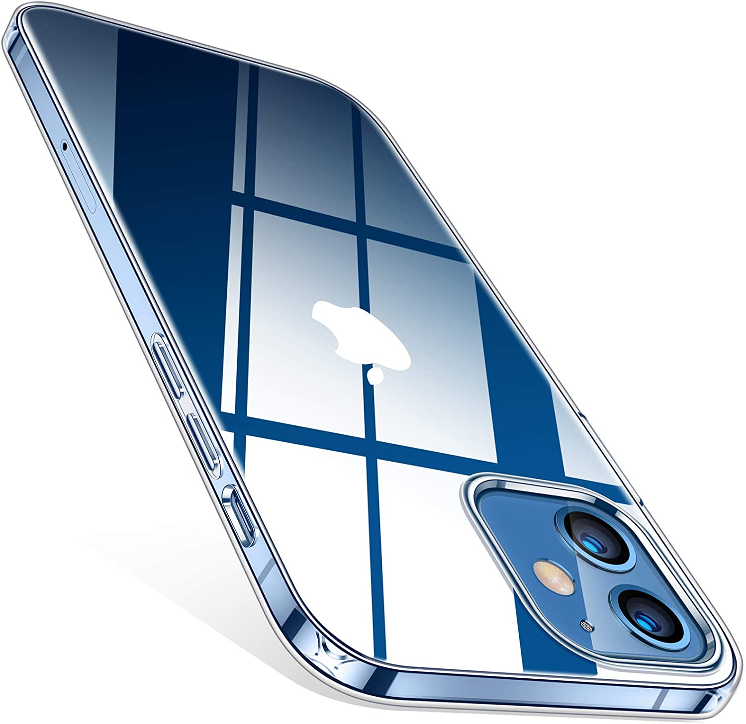 TORRAS Crystal Clear Compatible with iPhone 12 Case (2020) / Designed for iPhone 12 Pro Case 6.1 Inch 5G 2020, Crystal Clear