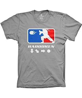 3315faaa Hadouken Funny Video Game Shirt Old School Retro Gaming Tshirt Silver