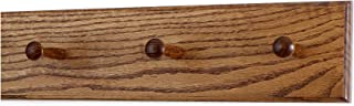 product image for Solid Oak Xtra-Wide Shaker Peg Rack -Made in The USA - Chestnut Stain 18 x 4.5 Inch Xtra Wide with 3 Pegs
