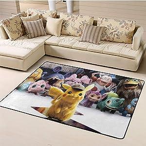 Best Carpet,Pikachu for Bedroom Floor Sofa W59xL94.4 inch