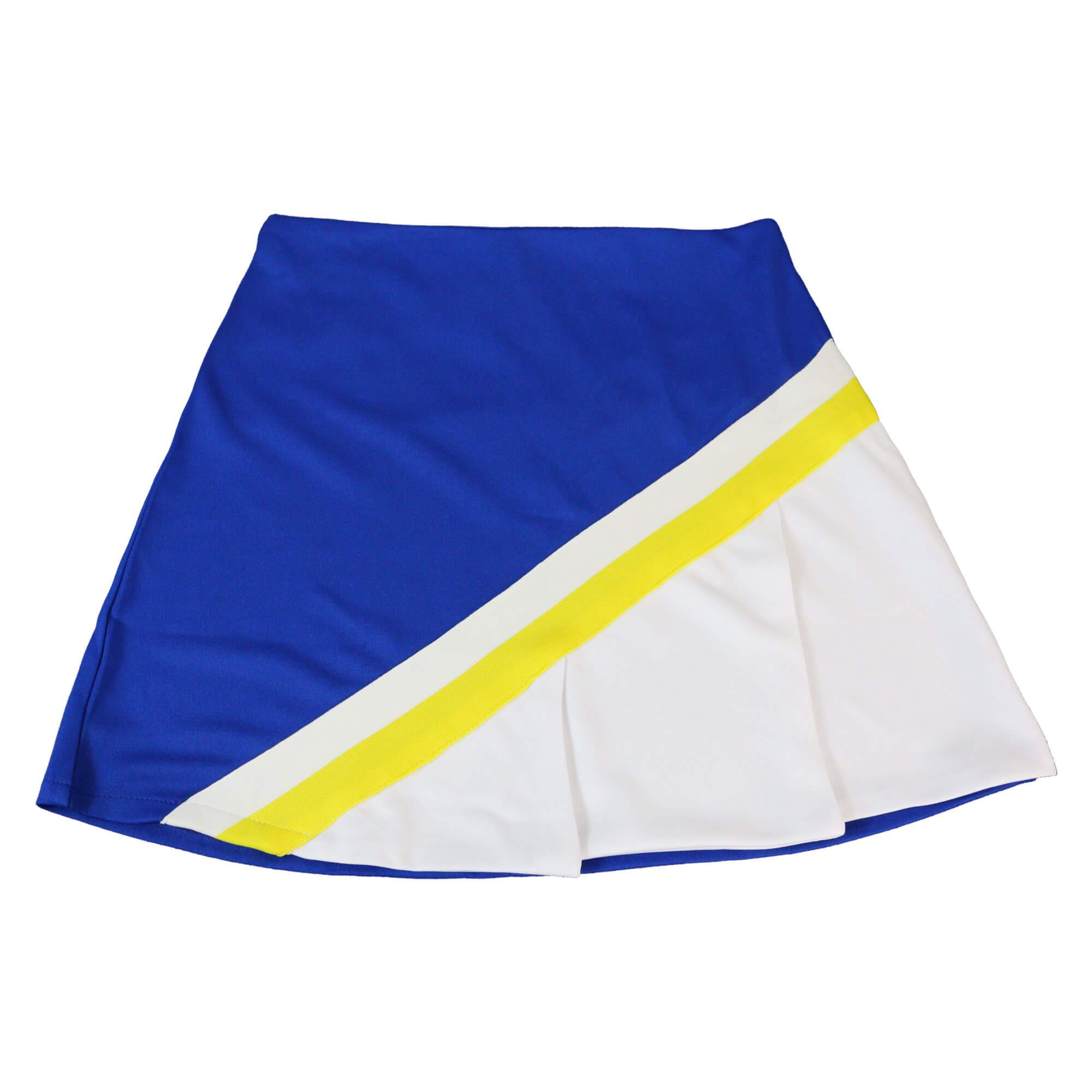 Danzcue Child Cheerleading A-Line Pleat Skirt, Royal-White, Large by Danzcue