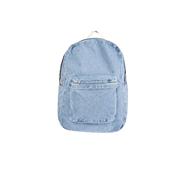 Light Wash One Size American Apparel Unisex Cotton Canvas School Bag