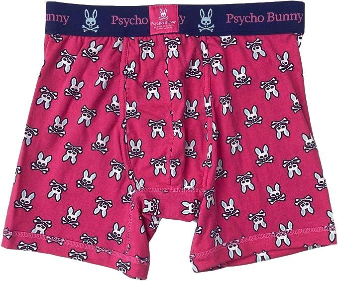 Psycho Bunny Mens Cotton Boxers