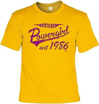 a71f17811c20d8 Tolles T-Shirt zum - 30. - Geburtstag  German Powergirl seit 1986 -  Geschenktip Geburtstagsshirt Funshirt Farbe  gelb  )  Amazon.de  Bekleidung