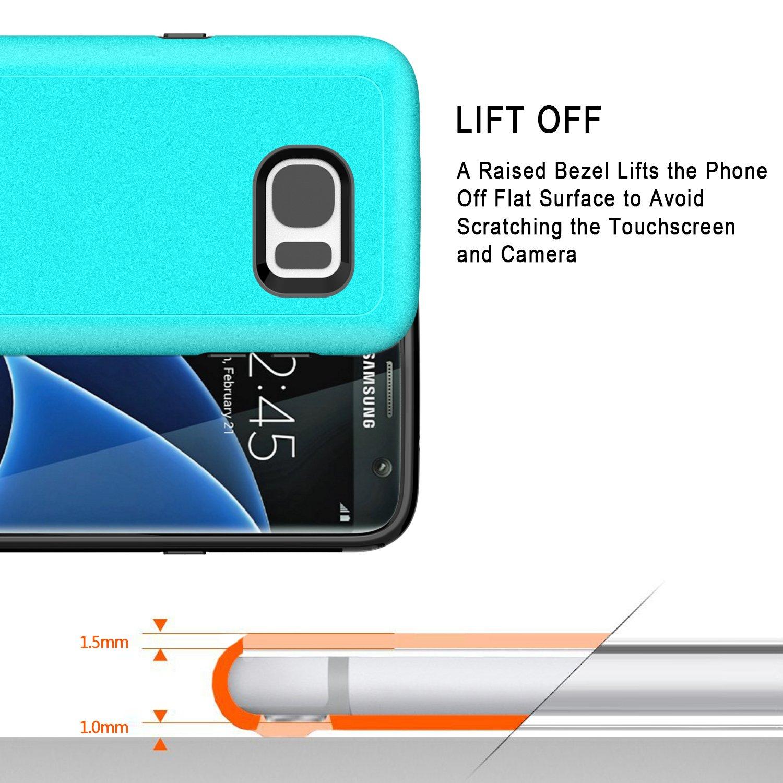 Samsung Galaxy S7 Funda, J&D [Armadura Delgada] [Doble Capa ...