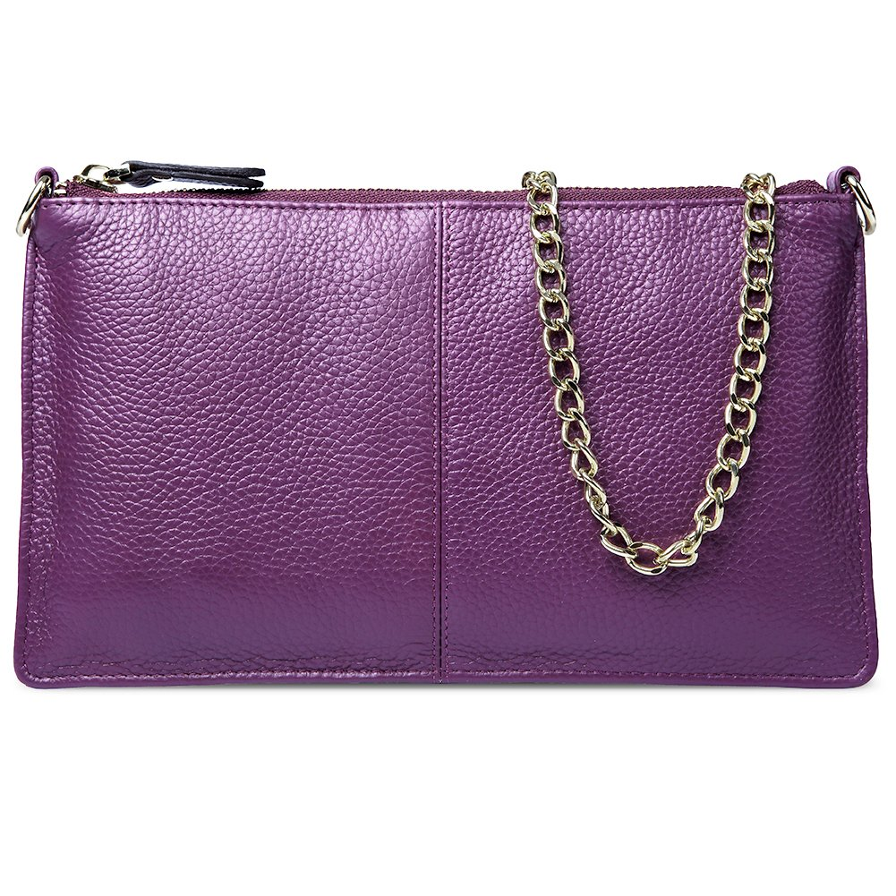 BOSTANTEN Womens Leather Cell Phone Purse Wristlet Clutch Wallets Chain Handbag Crossbody Wallet for Women Purple by BOSTANTEN (Image #3)