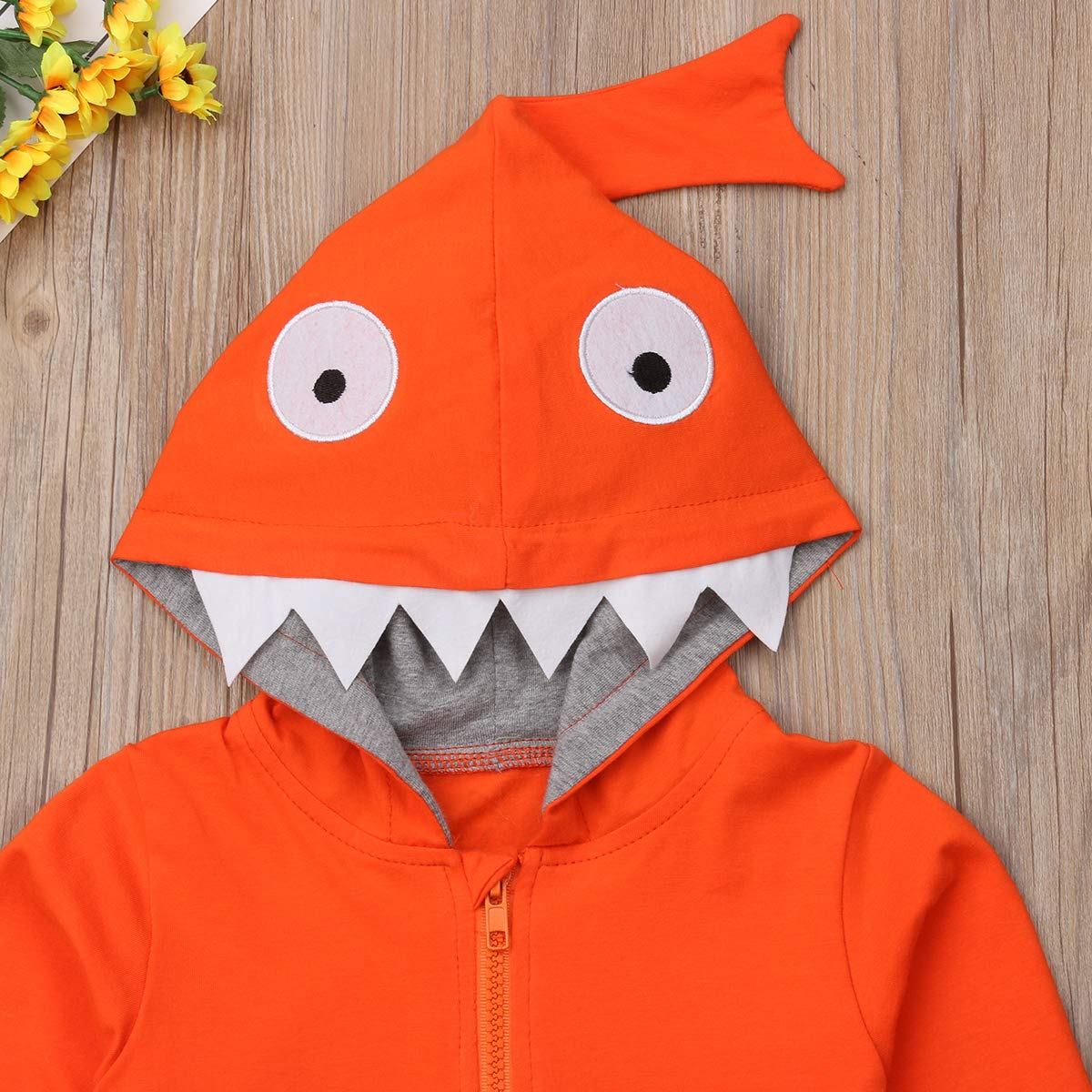 Kids Baby Boy Girl Jumper Coat Shark Jacket Hood Clothes Tops Toddler with Kangaroo Pockets Hoodies Outerwear for 1-5T