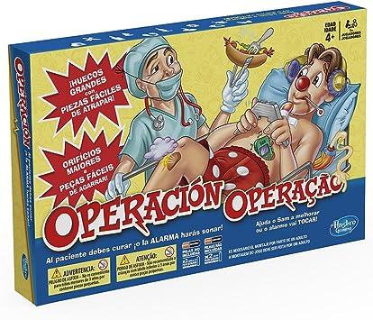 Hasbro Gaming - Juego de Mesa Operación (A4053175) (versión española/Portuguesa): Amazon.es: Juguetes y juegos