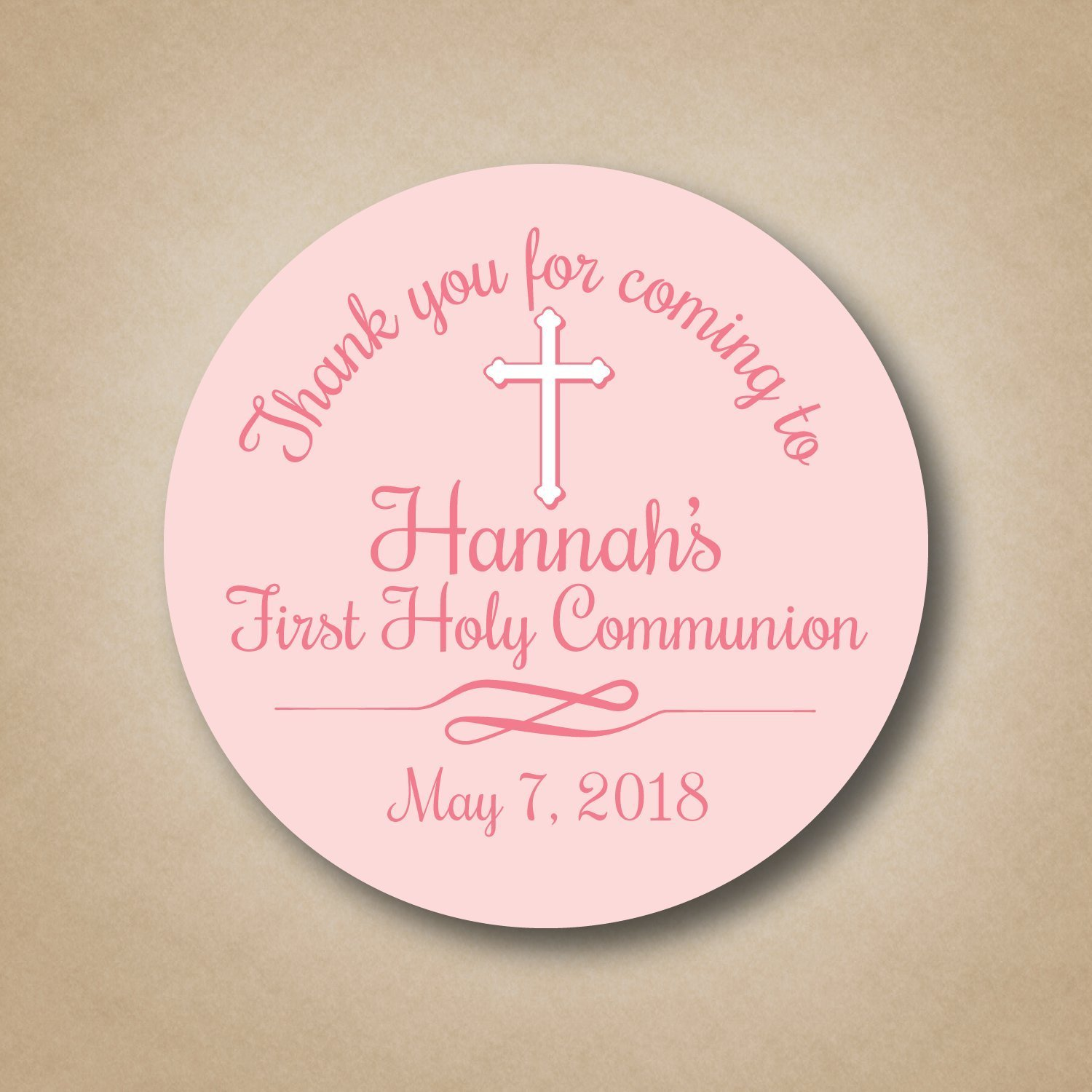 First Communion Favor Stickers