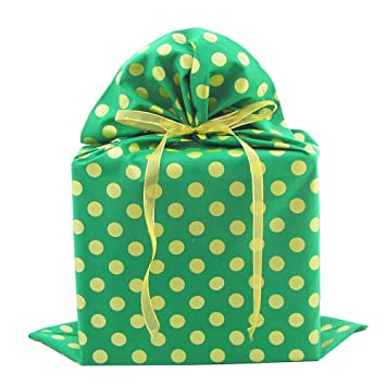 Amazon.com: Reusable Christmas Gift Bag with Metallic Accents (Large ...
