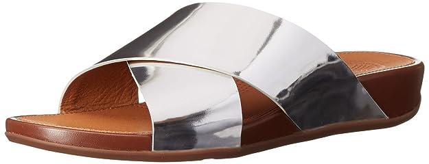 Nice image showing FitFlop AixTM Leather Slide Sandals