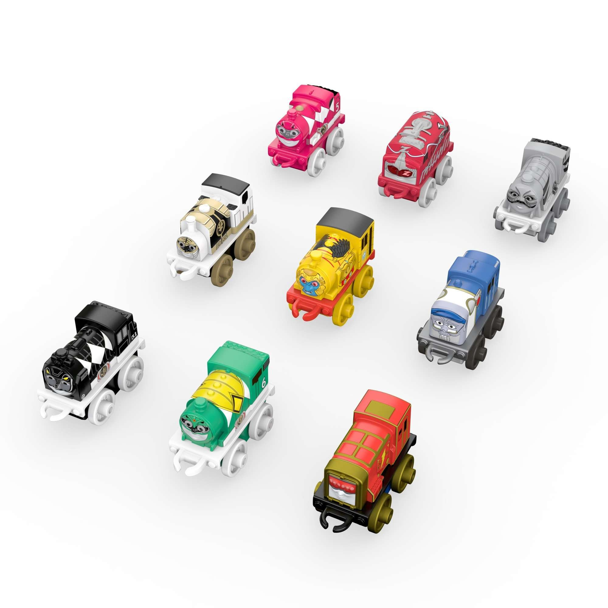 Fisher-Price Thomas & Friends MINIS, Mighty Morphin Power Rangers (9-Pack)