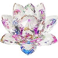 """Sumnacon Fleur de Lotus Cristal, dia 100mm(4"""")- pour la Décoration dans la Maison, idéal Cadeau pour Anniversaire, Les fêtes"""