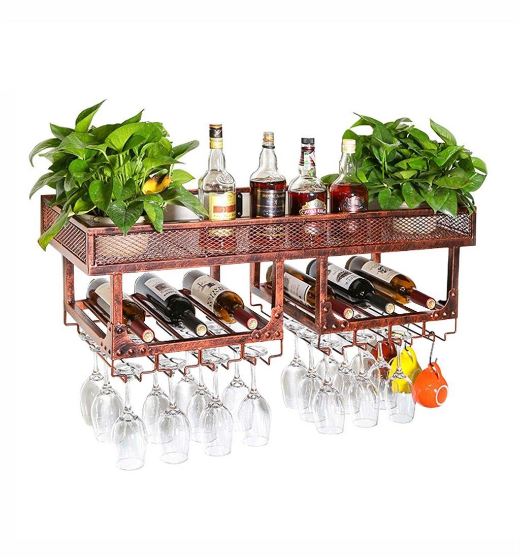 ZRX-ワインホルダー ワインラック ビンテージウォールホルダーメタルダブルレイヤフリースタンド| Jtogo.jpワインボトルホルダー|ワイングラスホルダー|錆びたワインホルダーウォールマウントワインクーラーワインスタンドワインキャビネット (色 : ブロンズ) B07P2FWSHX ブロンズ
