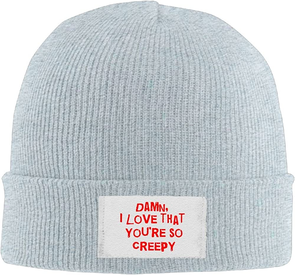 PWLLS Unisex I Love That You So Creepy Funny Toboggan Hat Ski Hat Head Wear Fashion For Outdoor /& Home