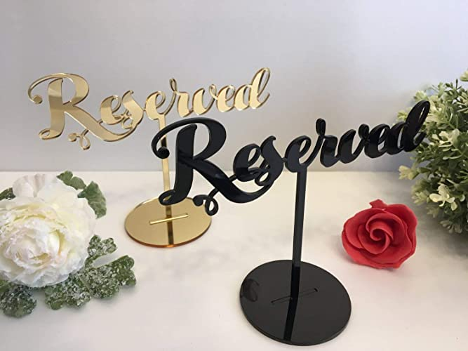 Amazon Reserved Table Sign For Weddings Event Birthday Party