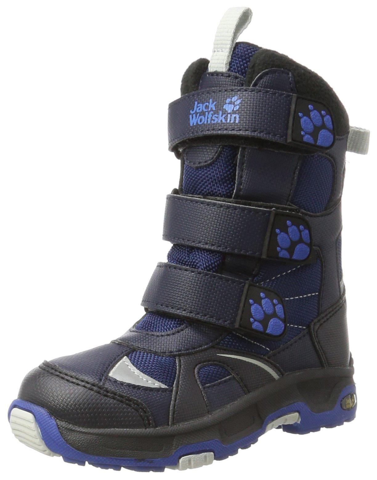 Jack Wolfskin Boys Snow Diver Texapore Boot, Vibrant Blue, 4.5 M US Big Kid