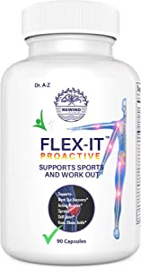 Astaxanthin Flexit Sports Joint Support for Men, Women, L-Arginine, L-Carnitine Creatine Monohydrate Pill, Support Joints, Skin, Eye and Immune Health PRO Sports, 120 Capsules