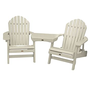 Highwood 2 Hamilton Folding U0026 Reclining Adirondack Chairs With 1 Adirondack  Tete A Tete
