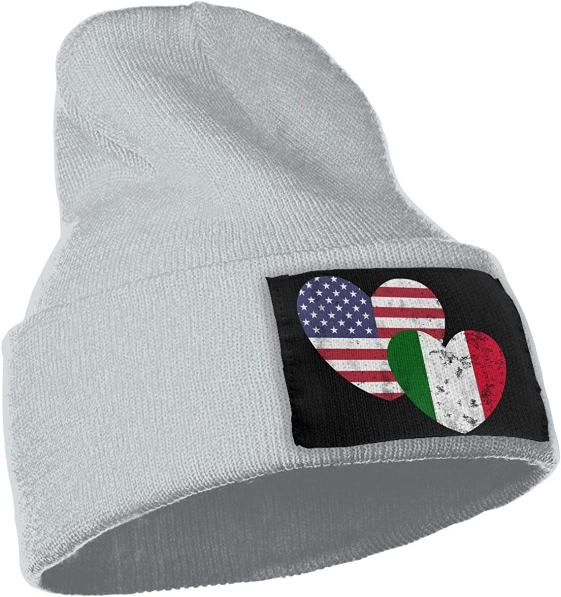 Italian American Flag Love Warm Skull Cap Mens Womens 100/% Acrylic Knitted Hat Cap