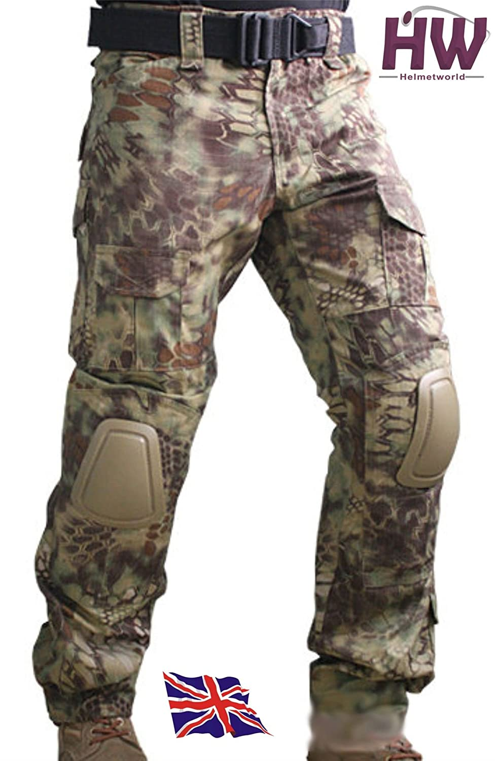 AIRSOFT EMERSON GEN 2 PANTS TROUSERS KRYPTEK MANDRAKE KNEE PADS 32-34 CRYE STYLE